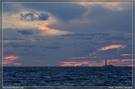 Couché de soleil sur le phare de Planier